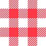 משובץ אדום לבן