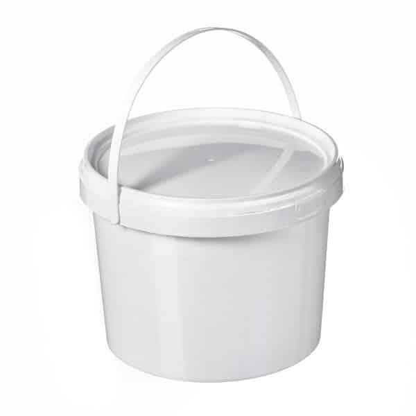 דלי 2.15 ליטר עגול לבן
