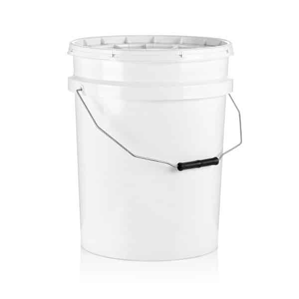 דלי 25 ליטר עגול לבן
