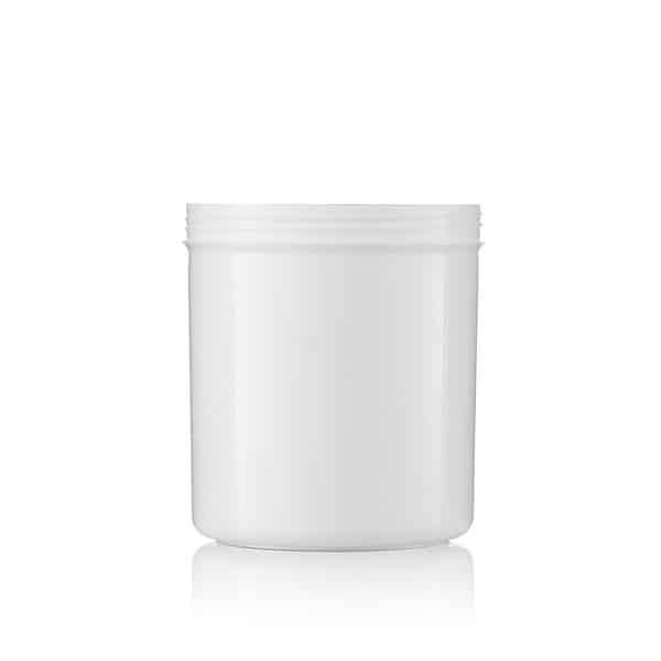צנצנת 1 ליטר PET לבנה