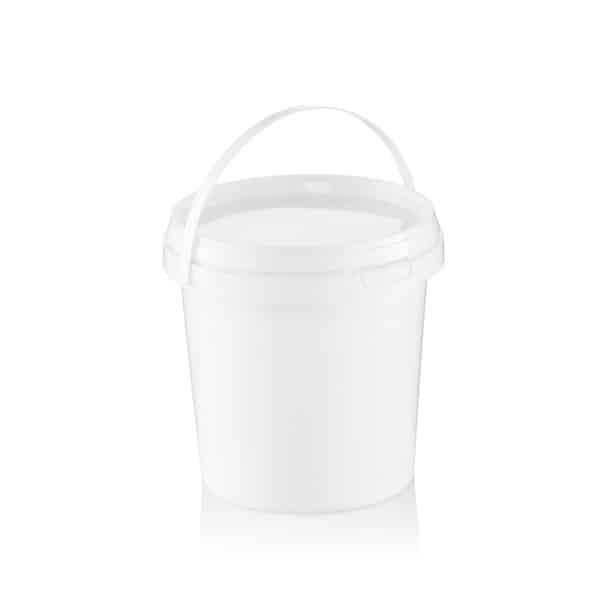 דלי 10 ליטר עגול לבן